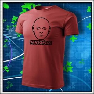 Fantomas - unisex tričko bordové