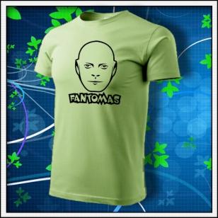 Fantomas - unisex tričko hráškovozelené