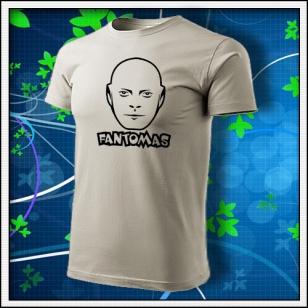 Fantomas - unisex tričko ľadovosivé