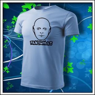 Fantomas - unisex tričko nebeské modré