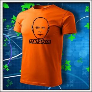 Fantomas - unisex tričko oranžové