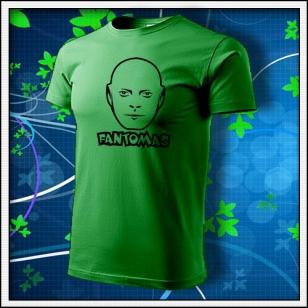 Fantomas - unisex tričko trávovozelené