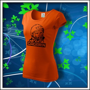 Gagarin - dámske tričko oranžové