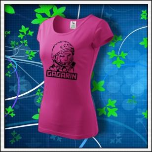 Gagarin - dámske tričko purpurové