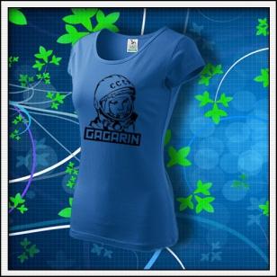 Gagarin - dámske tričko svetlomodré