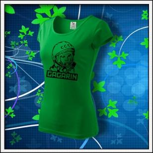 Gagarin - dámske tričko trávovozelené