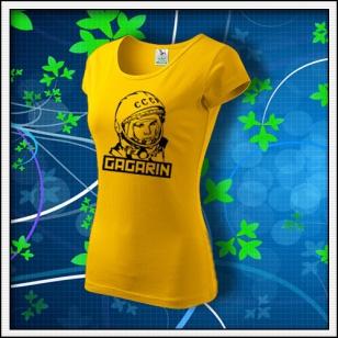 Gagarin - dámske tričko žlté