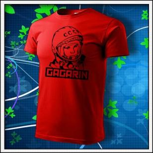 Gagarin - unisex tričko červené