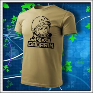 Gagarin - unisex tričko pieskové