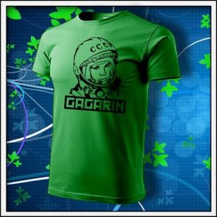 Gagarin - unisex tričko trávovozelené