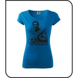 VÝPREDAJ !!! - Old  Shatterhand - 1 ks dámske svetlomodré tričko XL