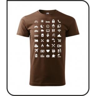 VÝPREDAJ !!! - Icon Speak - 1 ks unisex čokoládové tričko M