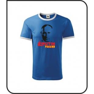 VÝPREDAJ !!! - Putin - 1 ks unisex modré s bielym lemom XXL
