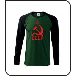 VÝPREDAJ !!! - CCCP - 1 ks pánske dlhorukávové fľaškovozelené tričko XXL