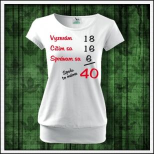 VÝPREDAJ !!! - Spolu to máme - 1 ks dámske biele tričko s patentom L