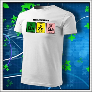 VÝPREDAJ !!! - BAZINGA - 1 ks unisex biele tričko M