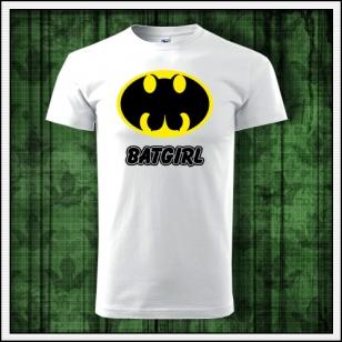 Vtipné tričko s potlačou Batgirl, vtipné tričká paródie, vtipné darčeky, humorné tričká, srandovné tričká, smiešne tričká.