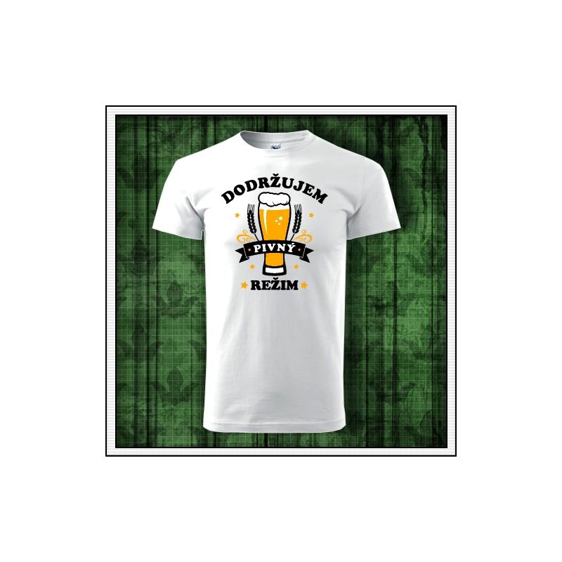 Vtipné pivné tričko, vtipné tričká pre pivára, vtipné darčeky pre pivárov, vtipné tričko s potlačou pivný režim, humorné tričká.