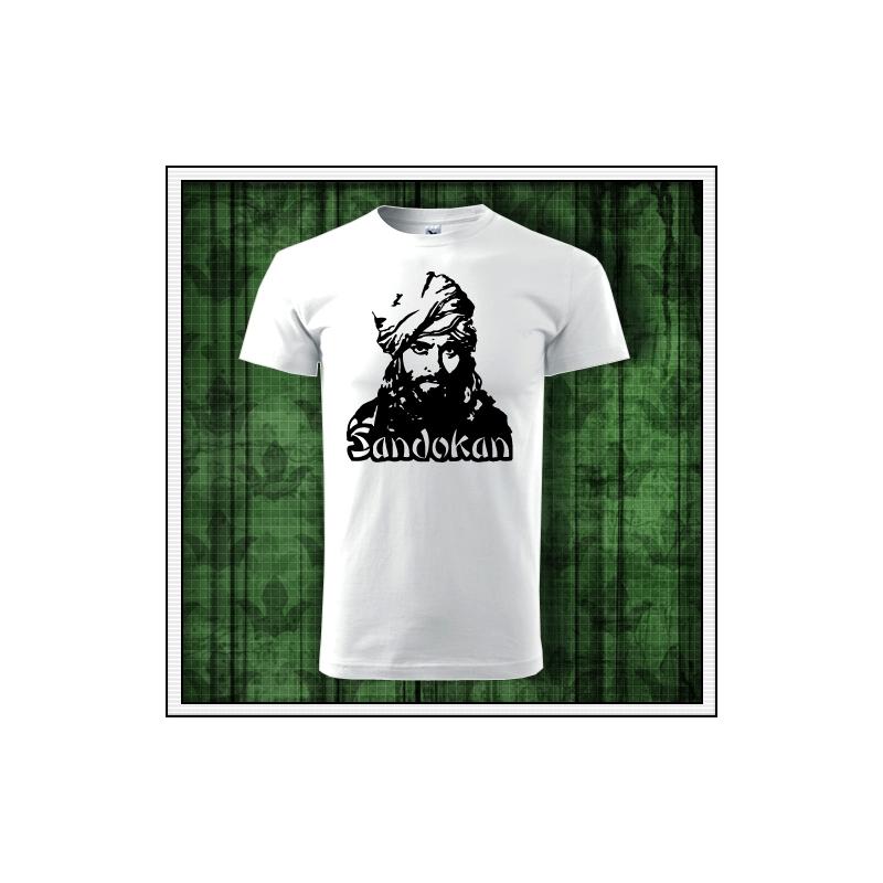 Retro tričko sandokan, tričko so sandokanom, sandokanské tričko, retro darčeky, retro tričká