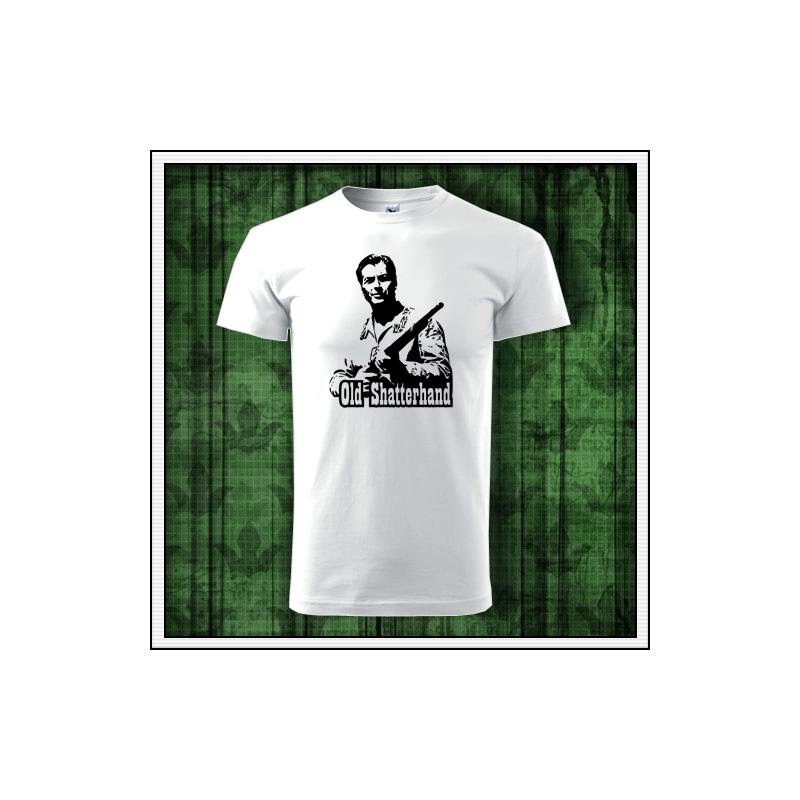retro tričko Old Shatterhand s vyobrazením pokrvného brata náčelníka Apačov Winnetoua