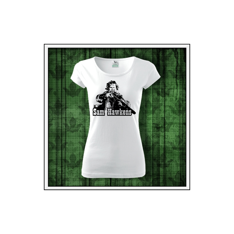 dámske retro tričko sam hawkens, retro darček Sam Hawkens, dámske tričko winnetou