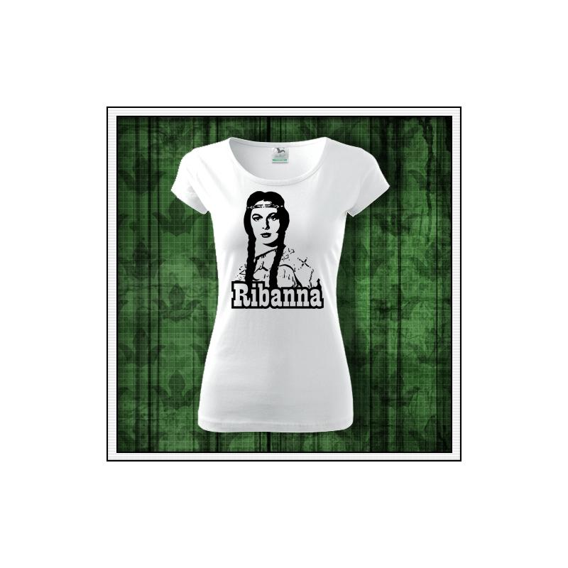dámske retro tričko Ribanna, dámske retro tričká Ribana, retro darčeky winnetou, retro darček Karl May