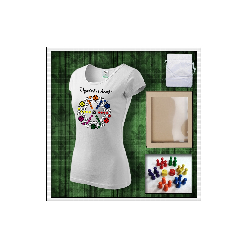 dámske vtipné tričká s potlačou Človeče nehnevaj sa, vtipný darček, vtipné tričko, humorné vianočné darčeky