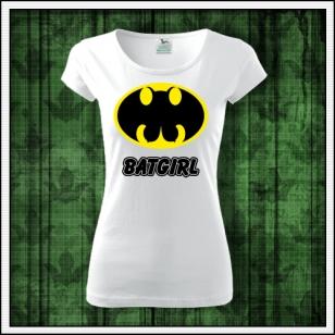 dámske vtipné tričko s potlačou Batgirl, vtipné tričko paródie, vtipný darček, humorné tričko, srandovné tričko