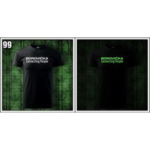 Vtipné svietiace tričko borovička, vtipné tričko s potlačou borovička, svietiace tričká alkohol