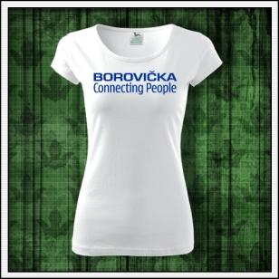 dámske vtipné tričko borovička, vtipné tričko s potlačou borovička, alkoholické tričká, vtipné alkohol tričká