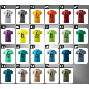 23 druhov unisex farebných retro tričiek Winnetou vhodné ako retro narodeninové darčeky.
