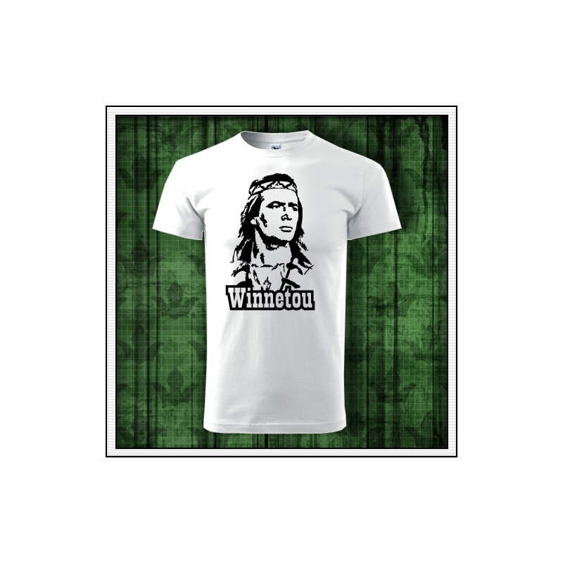 Retro tričko Winnetou na unisex tričkách vhodné ako retro darček pre muža a ženu