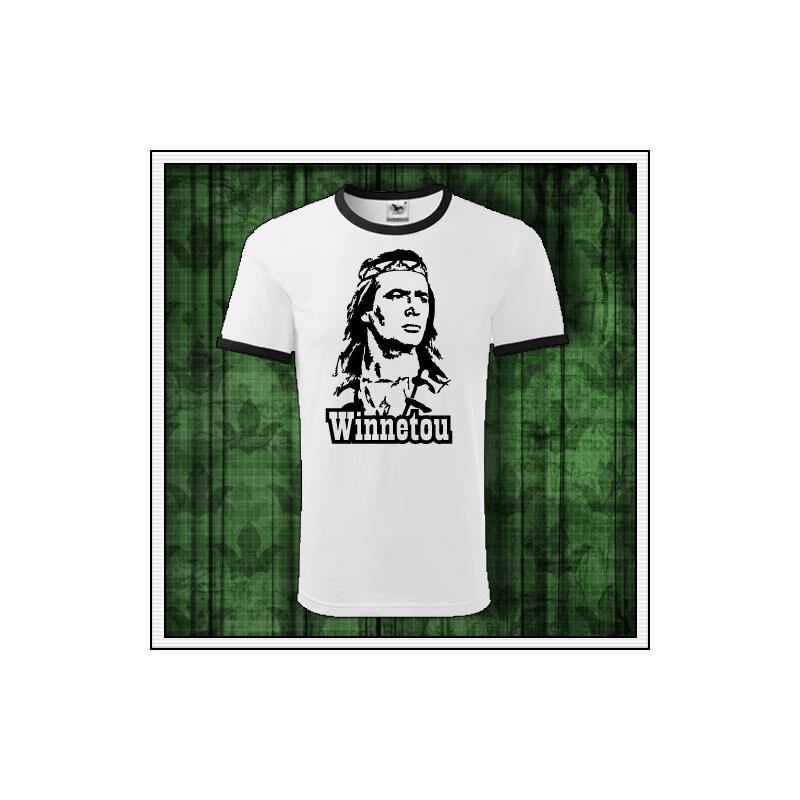 Retro tričko Winnetou na unisex tričkách s lemom vhodné ako retro darček pre muža a ženu