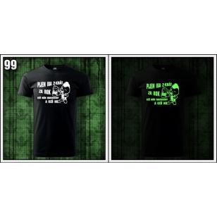 Fosforové svietiace tričká k narodeninám pre muža s motívom alkohol