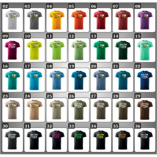 Vtipné darčeky pre muža k narodeninám ako vtipné tričká alkohol v 37 farebných prevedeniach