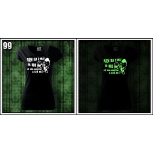 Fosforové svietiace tričko k narodeninám pre priateľku s motívom alkohol