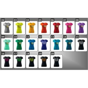 Vtipné darčeky pre ženu k narodeninám ako vtipné tričká alkohol v 15 farebných prevedeniach