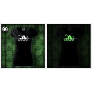 Svietiace tričko Adidanic ako fosforové tričko ktoré svieti po nabití v tme