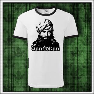 Retro tričko Sandokan na unisex tričkách s lemom vhodné ako retro darček pre muža a ženu