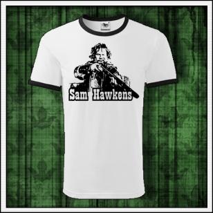 retro dvojfarebné tričko Sam Hawkens vhodné ako retro vianočný darček