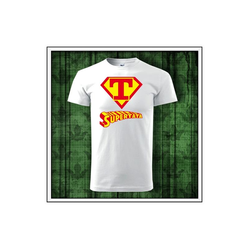 Vtipné tričko s potlačou Supertata ako narodeninový darček pre otca