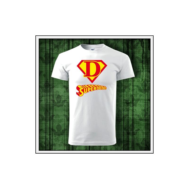 Originálne vtipné tričko Superdedo ako vtipné darčeky pre starých rodičov