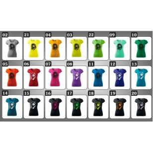 dámske farebné tričko so sandokanon ako retro darček sandokan ženu
