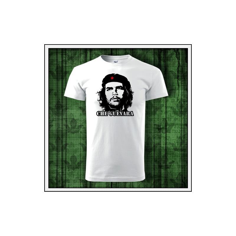 biele retro tricko Che Guevara, retro darceky pre muza