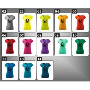 Dámske farebné retro tričká Bud Spencer, retro darčeky pre ženu Bannana Joe.