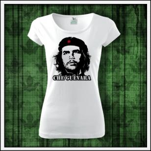 Dámske biele retro tričko Che Guevara retro darček pre ženu