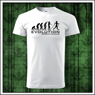 Vtipné tričko pre chodcu Evolution Nordic Walking ako vtipný darček