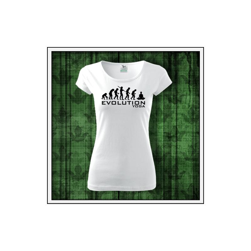 dámske vtipné tričko Joga biele tričko pre jogistku
