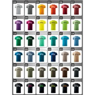 vtipné pánske farebné tričká evolution yoga, tričko pre jogistu