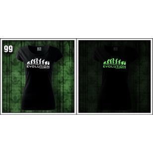 čierne dámske svietiace vtipné tričko narodeninový darček